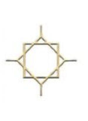 Звезда Арабики золото 8 мм (200*200 мм) производство, стеклопакеты