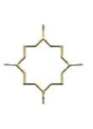 Звезда Арабики открытая золото 8 мм (200*200 мм) производство, стеклопакеты