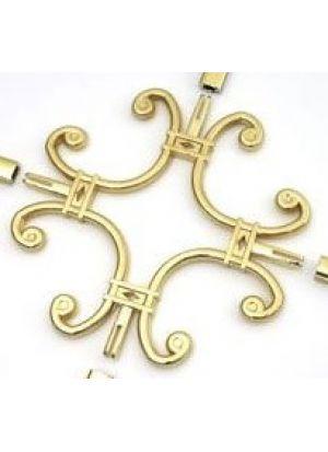 Вензель со свободной серединой золото,хром (8 мм) 100*100 мм стеклопакеты, стекло